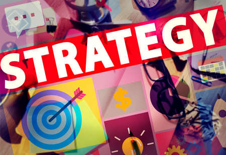 tactics: Strategy Solution Tactics Teamwork Growth Vision Concept