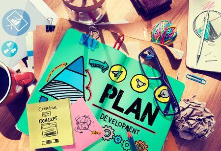 Plan Planning Development growth Goal Concept Stock Photo