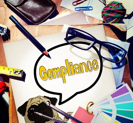 affirmation: Compliance Affirmation Continuity Regulation Concept Stock Photo