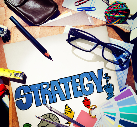 Stationery with strategy concept