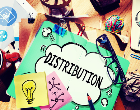 distribution: Distribution Sale Marketing Distributor Strategy Concept