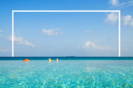 turqoise: Infinity pool in Maldives.