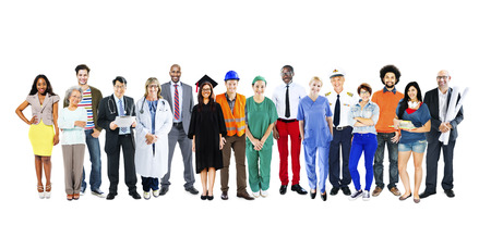 occupation: Group of Multiethnic Mixed Occupations People Concept