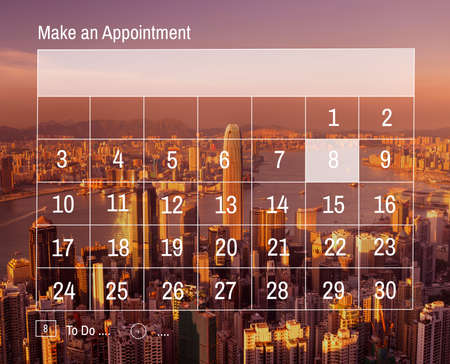 hong kong harbour: Calender Make Appointment Organization Management Concept