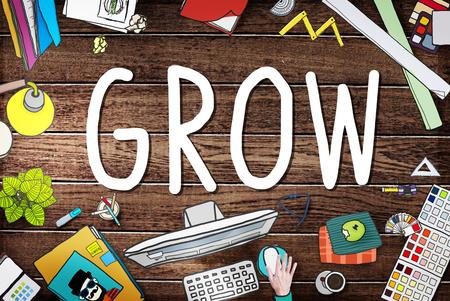 aspiration: Grow Improvement Process Increase Aspiration Concept Stock Photo