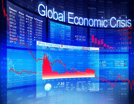global economic crisis: Global Economic Crisis Economic Stock Market Banking Concept