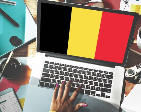nationality: Belgium Flag Country Nationality Liberty Concept