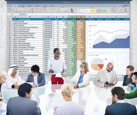 hoja de calculo: Financial Planning Accounting Report Spreadsheet Concept