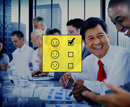 Evaluate Evaluating Evaluation Statistics Questionaire Concept Stock Photo