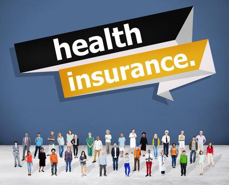 health insurance: Health Insurance Protection Risk Assessment Assurance Concept Stock Photo