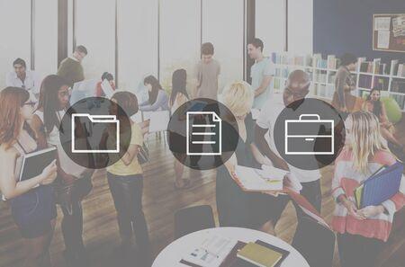 technology: Business Office Folder Files Document Concept Stock Photo
