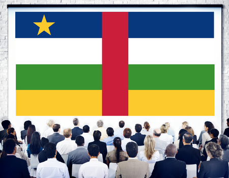 central government: Central African Republic Flag Government Seminar Concept