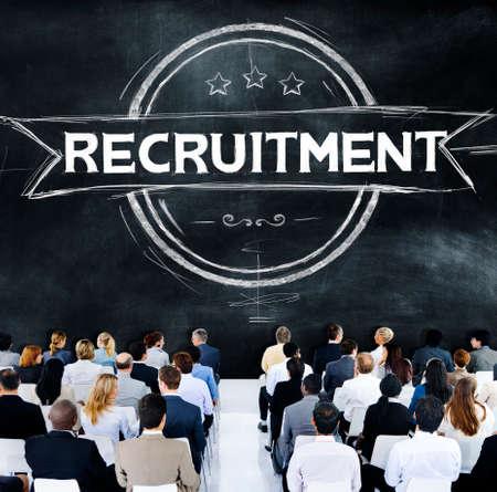skills diversity: Recruitment Hiring Skills Job Occupation Concept