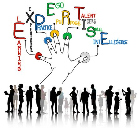 proficiency: Expertise Learning Knowledge Skill Expert Concept Stock Photo