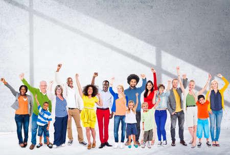 variation: Diverse Diversity Ethnic Ethnicity Unity Variation Concept Stock Photo