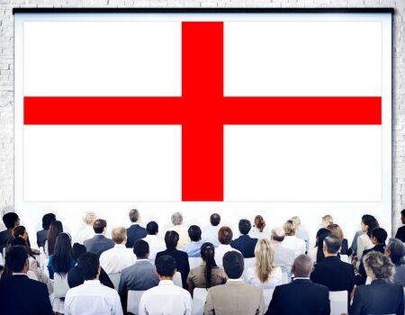 english ethnicity: England Flag Country Nationality Liberty Concept Stock Photo