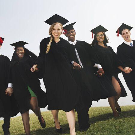 Students Graduation Success Achievement Concept
