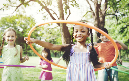 hoop: Child Children Childhood Fun Playful Activity Kids Concept Stock Photo
