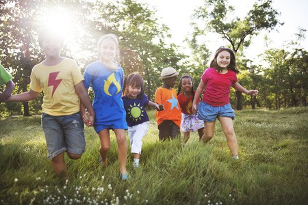 children play area: Child Children Childhood Fun Playful Activity Kids Concept Stock Photo