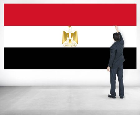 nationality: Egypt Flag Country Nationality Liberty Concept Stock Photo