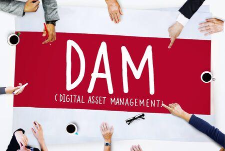 asset: DAM Digital Asset Management Organization Concept Stock Photo