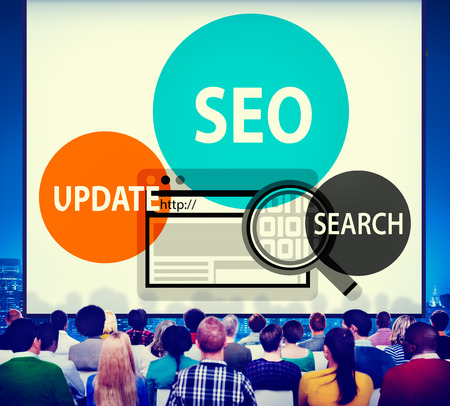 Audience with SEO and online marketing concept
