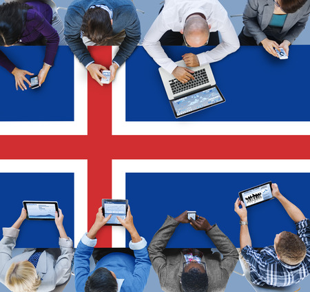 Iceland National Flag Government Freedom LIberty Concept Stock Photo