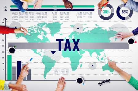 Tax Belasting Wellness Refund Economy Concept Stockfoto