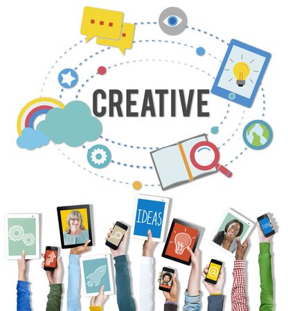 Creatieve Customize Design Innovation Inspiration Vision Concept Stockfoto