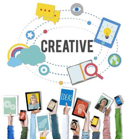 La inspiración creativa Personalizar Diseño Visión Innovación Concept Foto de archivo
