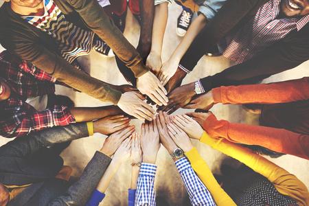 amistad: Concepto de colaboración en equipo equipo