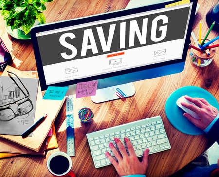 money online: Save Saving Accounting Banking Investment Concept Stock Photo