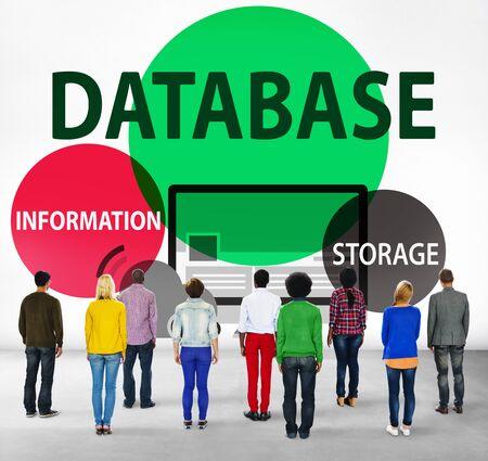 facing backwards: Database Online Storage Technology Concept