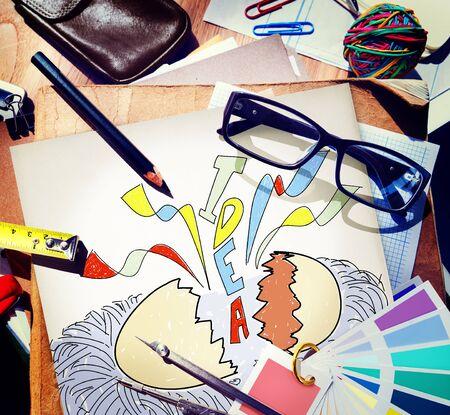 give out: Creativity Idea Imagination Reveal Surprise Concept