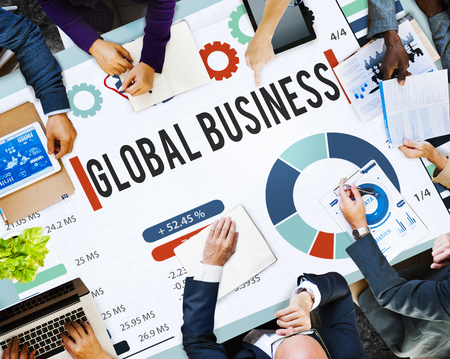 Business meeting with global business concept
