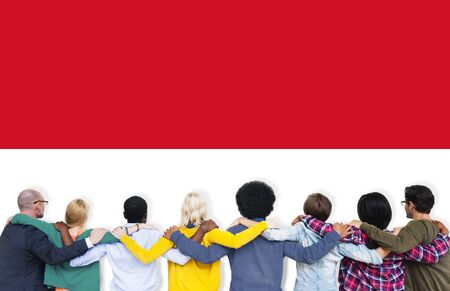 Indonesia Flag Country Nationality Liberty Concept