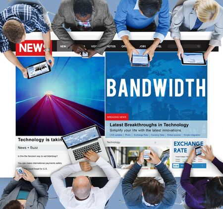 bandwidth: Bandwidth Internet Online Connection Broadbabd Technology Concept Stock Photo