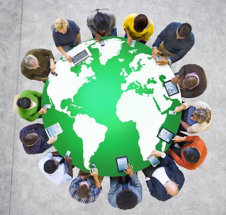 environmental conservation: Green Business Environment Global Conservation Concept Stock Photo