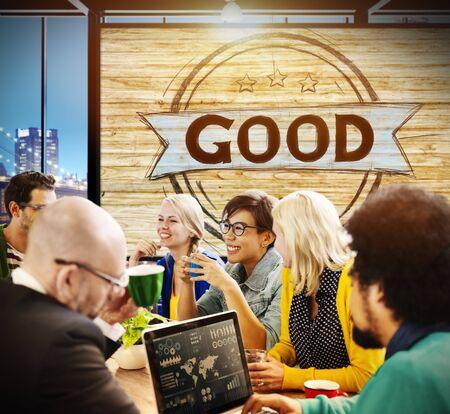 excellent: Good Excellent Success Positive Thinking Concept Stock Photo