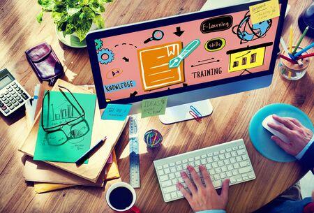 conocimiento: Conocimiento Formaci�n de Habilidades de E-Learning Start Up Launch Concepto