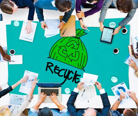 environmental conversation: Recycle Reuse Eco Friendly Green Business Concept