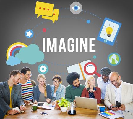 Imagine Imagination Ideas Innovate Thinking Concept Stock Photo