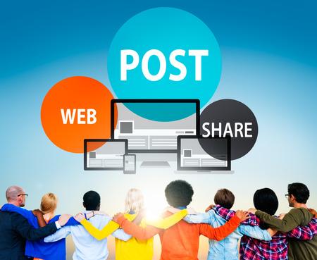 Post Web Share Announce Reminder List Remember Concept Stok Fotoğraf - 52337762
