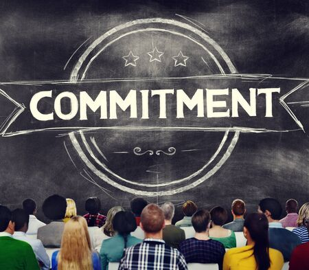 pledge: Commitment Devotion Dedication Conviction Concept