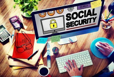 Seguridad Social Bienestar Retiro Concepto de Pago Foto de archivo - 52338600