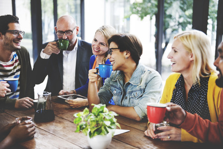 People Meeting Friendship Togetherness Coffee Shop Concept Stockfoto