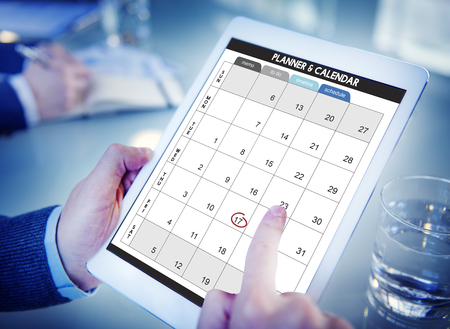 Kalender Planner organisatie management Herinner Concept Stockfoto