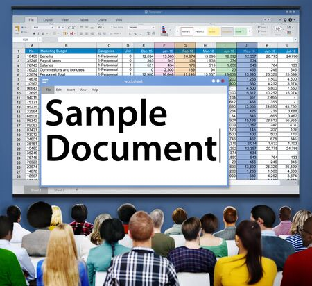 hoja de calculo: Spreadsheet Document Information Financial Startup Concept