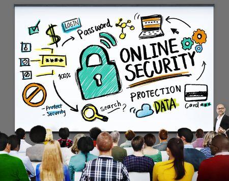privacidad: Online Seguridad Contraseña Concepto de Protección de Información de Privacidad de Internet