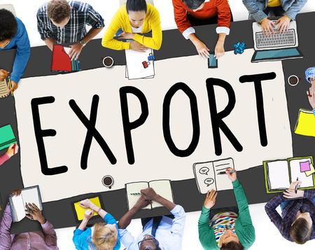 export import: Export Import Logistics Transportation Freight Concept